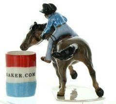 Hagen Renaker Specialty Horse Rodeo Barrel Racer Ceramic Figurine image 3