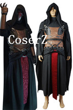 2017 Star Wars Darth Revan Black Outfit Cape Cloak Cosplay Costum - £108.61 GBP