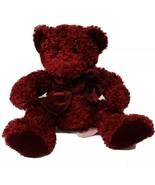 Vintage Rosetta Russ Teddy Bear Plush Stuffed Animal Red with Sparkles - $10.19