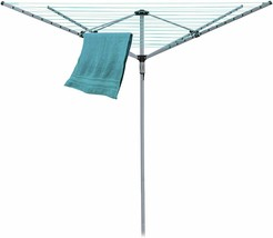 4 Arms 40M Rotary Clothes Airer Dryer Washing Line Ground Spike Dryer Ga... - $62.82