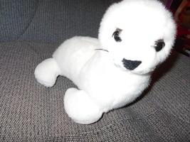 "K & M White Seal 11"" lgth Stuffed Plush Animal Toy Mammal - $9.46"