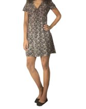 Soybu Women's V-Neck Dress, Midnight Palms, Large - $19.79
