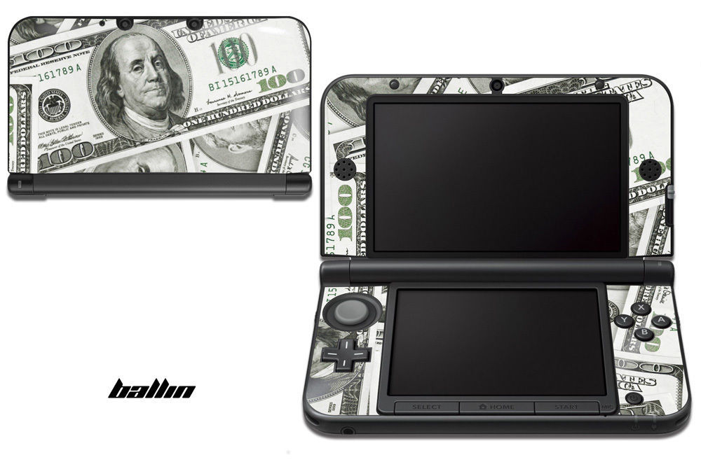 Skin Decal Wrap for Nintendo 3DS XL Gaming Handheld Sticker 12-15 BALLIN