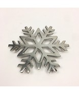 Snowflake Star Trivet Hot Plate Crate and Barrel Silver Cast Aluminum Po... - $10.39
