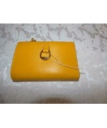Lauren Ralph Lauren Bennington New Compact Leather Wallet, Sunflower - $34.65