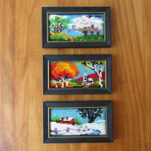 "Miniature Beaded Landscape ""Paintings"" Wall Han... - $29.69"