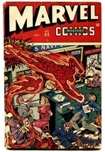 Marvel Mystery Comics #65 1945 WWII bondage cover by Alex Schomburg-Timely - $640.20