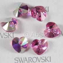 4 pieces 14mm Swarovski XILION Heart Pendant Crystal 6228 6202 ROSE AB - $5.60