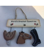 wd1800E  - World's Greatest Equistrian Wood Sign - $1.95