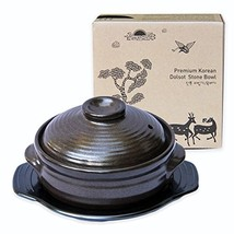 Crazy Korean Cooking Korean Stone Bowl Dolsot, Sizzling Hot Pot for Bibi... - $41.49