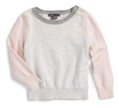 Vince Infant Girls' Color Block Birds Eye Stitch Sweater, Pink, Size 18 M, $ 58 - $29.69