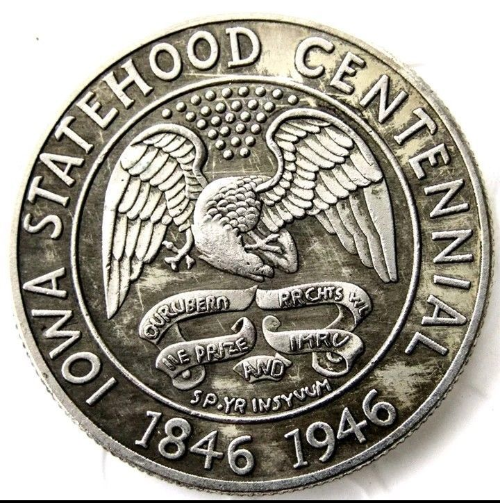 Primary image for 1946 Iowa Statehood Centennial Commemorative Half Dollar Casted Coin