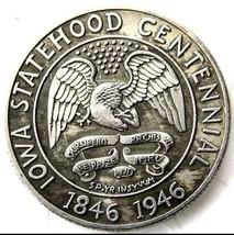 1946 Iowa Statehood Centennial Commemorative Half Dollar Casted Coin - $11.99