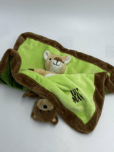 Baby Essentials Lil Man Deer Daddys Boy Bear Green Rattle Security Blanket FLAW - $8.99