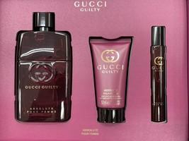 Gucci Guilty Absolute Pour Femme Perfume 3.0 Oz Eau De Parfum Spray 3 Pcs Set image 5