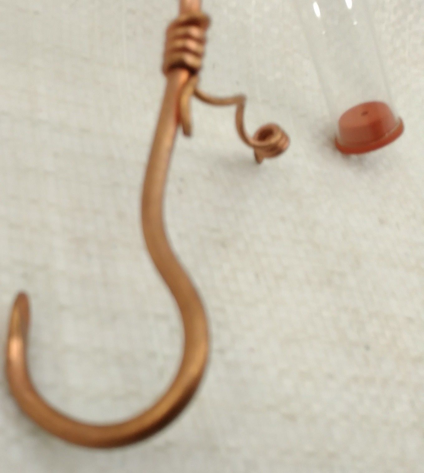 One Copper Hummingbird Feeder Plant Hanger 2 Stations / Glass Tubes and extras