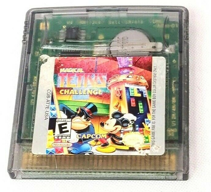Magical Tetris Challenge Nintendo Game Boy Color 2000 Disney Capcom - $13.96
