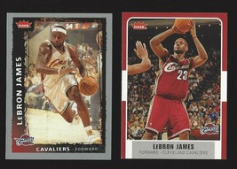 2 Card Lot 2007-08 Fleer Basketball #12 LeBron James + 2008 Fleer Lebron... - $6.89