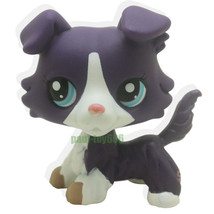 Littlest Pet Purple Collie Dog Puppy Blue Eyes Figure Gift Toy lps 1676 - $17.99