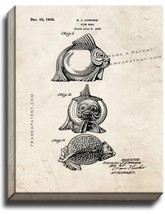 Fish Bowl Patent Print Old Look on Canvas - $39.95+