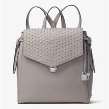 NWT Michael Kors Bristol Medium Studded Leather Backpack Perl Grey - $265.00