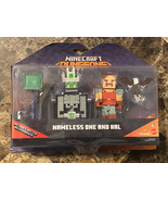 MINECRAFT Dungeons NAMELESS ONE AND HAL Figures Battle Accessories Mojan... - $29.69