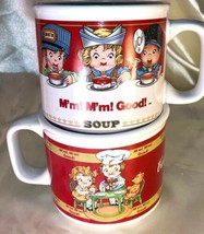 Lot 2 VTG Campbell's Soup Cup/Mugs 1997 Westwood 1998 Houston Harvest Kids - $29.69