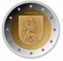 Latvia 2017 Latgale 2 EURO Coin, Latvian Regions series, UNC - $4.50