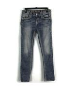 Rock Revival Womens Jeans Size 28 Light Wash Fleur De Lis Distressed Emb... - $43.42