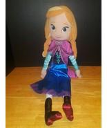"Disney Store Frozen Princess Anna w Cape Plush 19"" Stuffed Doll - $19.79"