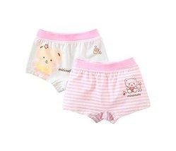 PANDA SUPERSTORE Set of 2 Breathable Comfort Underwear Briefs Pink Panties for B image 2