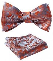 SetSense Men's Floral Jacquard Wedding Party Self Bow Tie Pocket Square Set / - $29.40