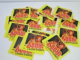 Vintage 1981 Topps Annie Album Sticker Lot Of 16 Packs 80 Stickers Made In Italy - $49.00