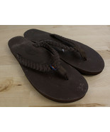 RAINBOW Twisted Sister Leather Flip Flop Sandals Women's XL 10.5-11.5 - $29.99