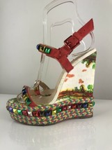 Christian Louboutin Cataclou Cubana Poppy 140 Wedge Sandals 36 - £242.54 GBP