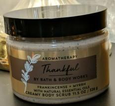 Bath & Body Works Aromatherapy Thankful Body Scrub 11.5 Frankincense Myr... - £32.68 GBP