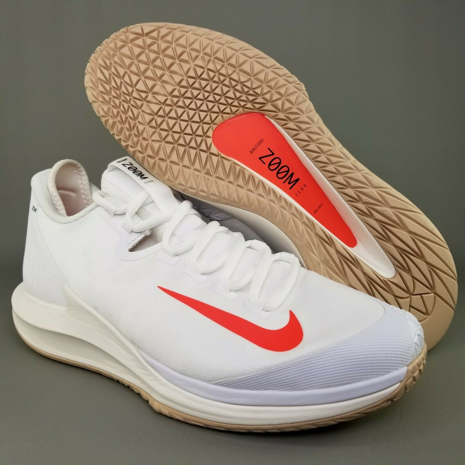 new style 23778 56cdc 57. 57. Previous. Nike Court Air Zoom Zero Tennis Shoes Size 11 Mens  Sneakers White Crimson Black