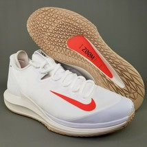 Nike Court Air Zoom Zero Tennis Shoes Size 11 Mens Sneakers White Crimso... - $140.24