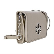 Tory Burch  Britten Pebbled Combo French Gray Leather Shoulder Bag  - $319.00