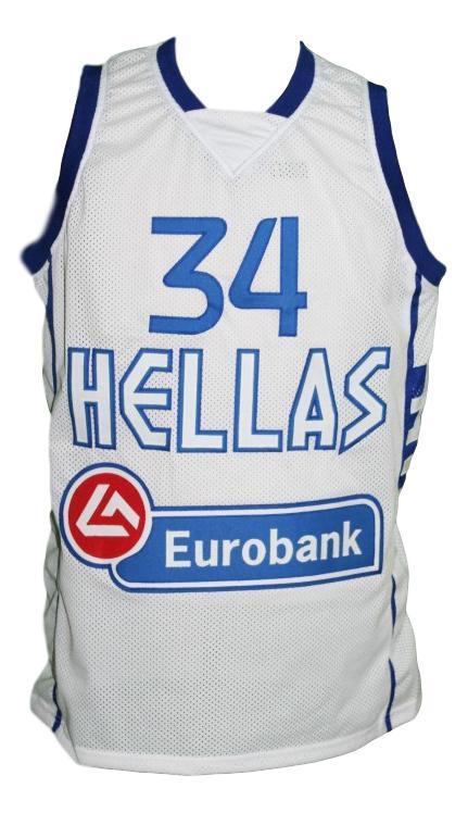Giannis antetokounmpo  34 team greece basketball jersey white   1