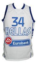 Giannis Antetokounmpo #34 Greece Basketball Jersey New Sewn White Any Size image 1
