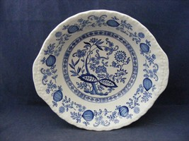 "Enoch Wedgwood Blue Heritage 8.25"" Lugged Serving Bowl Handled - $14.99"