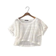 Women Fashion Shawl Capelet All-match Short Shirt Blouse, WHITE