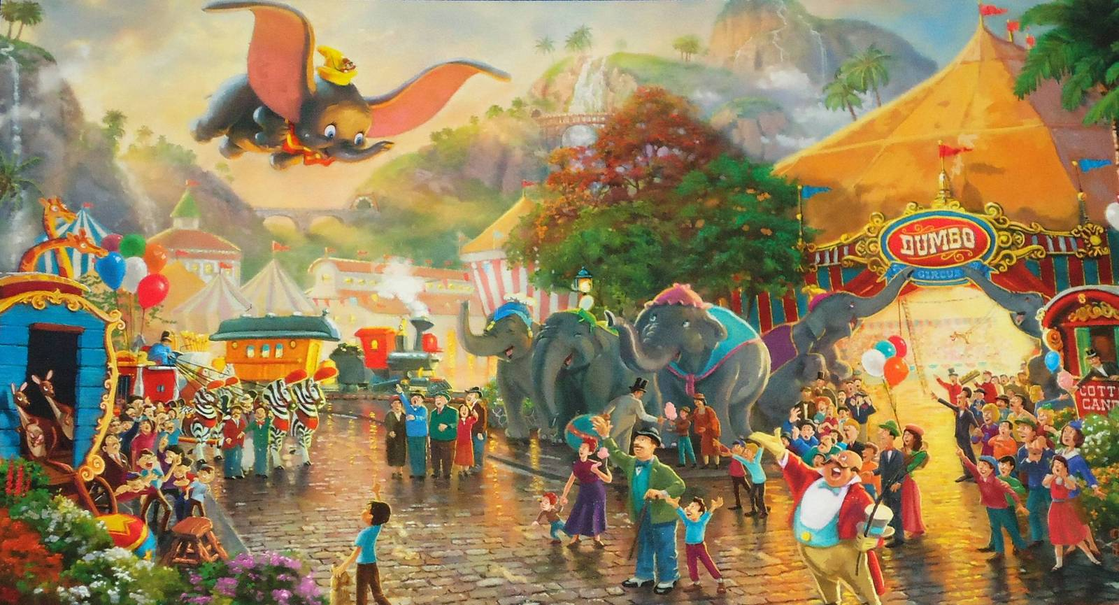 BRAND NEW CAPTIVATING THOMAS KINKADE WALT DISNEY DUMBO ART CARD 75TH ANNIVERSARY