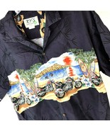 KY'S Hawaiian Shirt Vtg Men's XL Surfboards Motorcycles 100% Cotton Aloh... - $19.79