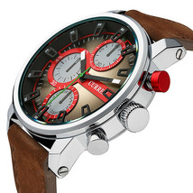 Men's Watches, Luxury Quartz Genuine Leather - $33.99