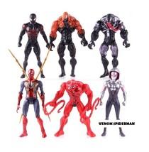 6PCS Marvel Spiderman Venom Carnage Miles Morales Gwen Stacy TOYS - $44.99