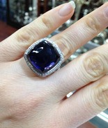 Pre Owned David Yurman 17mmx17nn  Black Orchid Albion Ring Size 8 - $860.00