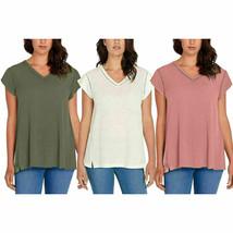 Buffalo David Bitton Ladies' Short Sleeve V-Neck Top - Variety - $13.99