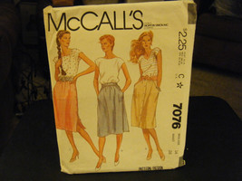 McCall's 7076 Misses Skirts Pattern - Size 14 Waist 28 - $6.24